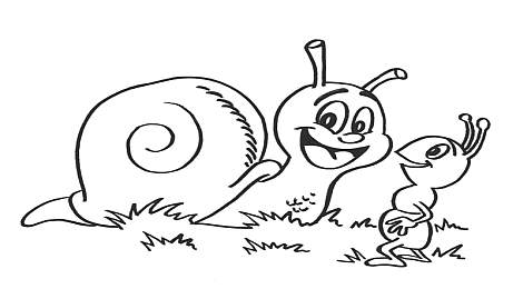 Coloriage-escargot