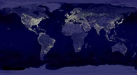 La-carte-du-monde-la-nuit