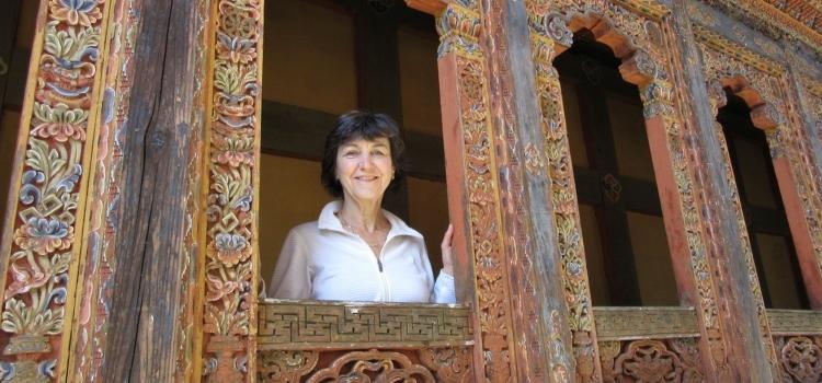Isabelle Cassiers en voyage au Bouthan